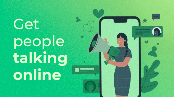 Get people talking online with social media graphics